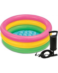 Glow Baby Pool, Multi Color & High Output Air Balloon Pump  (Multicolor)