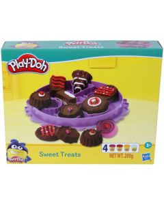 PLAY-DOH Sweet Treats Playset for Kids 3 Years and Up with 4 Non-Toxic Colors