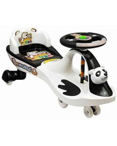 Panda Back Rest Swing Car Magic Car for kids with music and lights