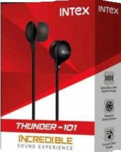 Intex Thunder 101 Black Wired Headset  (Black, In the Ear)