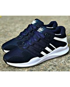 ADIDAS stylish mens sport shoes (Blue with white stripes)