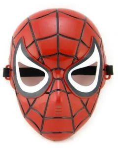 Superhero Spiderman Mask for Kids & Adults Costume Cosplay Party Gift Dress (Red)