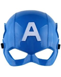 Superhero Captain America Mask for Kids & Adults Cosplay (Blue)