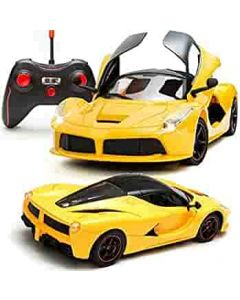 Super Remote Control Car, Rechargeable, Opening Doors, Yellow color