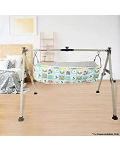 NRI Baby cradle, 4 Fold Super Compact Design With Mosquito Net, Bassinet