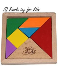 Wooden Tangram Puzzle for Mind Development of Kids (Multi Color)