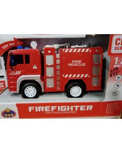 Fire Rescue Truck with Functional Ladder with Cool Lights & Sound Toys for Kids