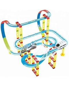 Battery Operated 105 PCS HIGH Speed Train Series Rail Train Track Set Toy for Kids